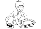 Coloring pages to play with toy car