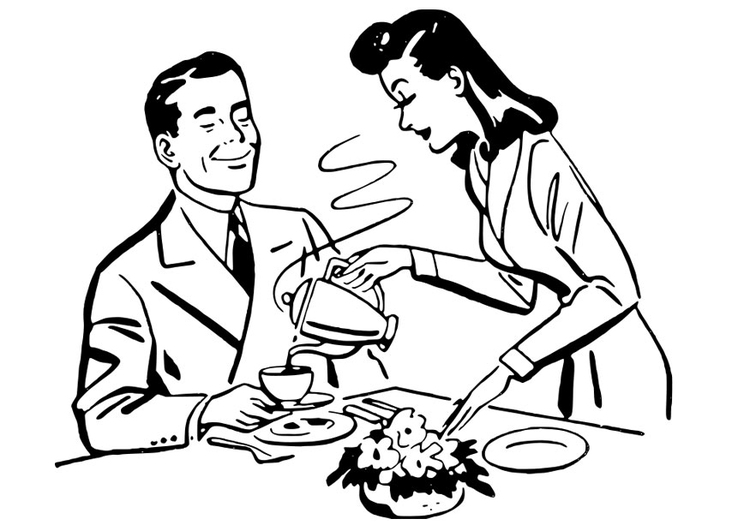 man drinking coloring pages - photo#26