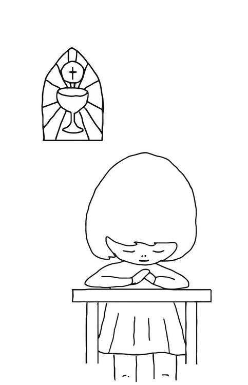 Coloring page to pray
