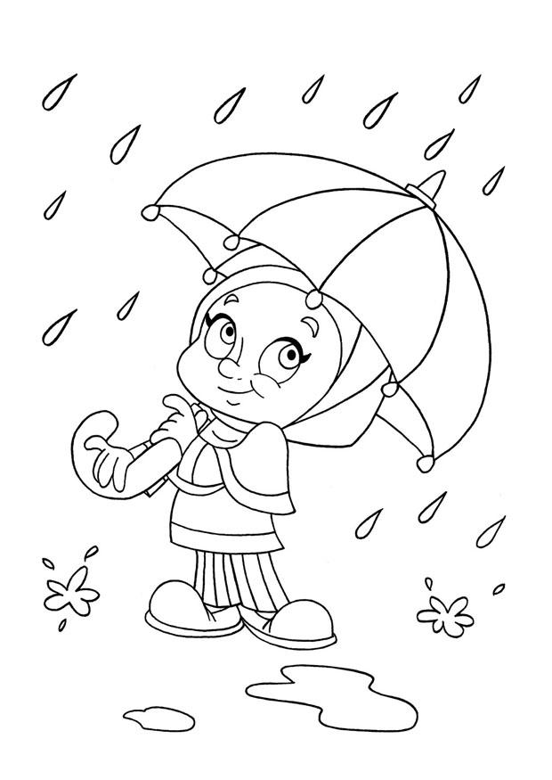 Coloring page to rain img 22039