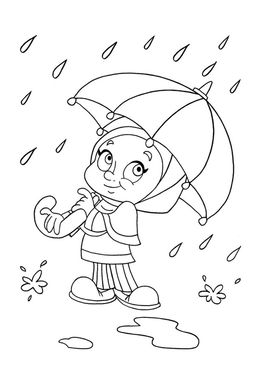 Coloring page to rain