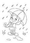Coloring pages to rain