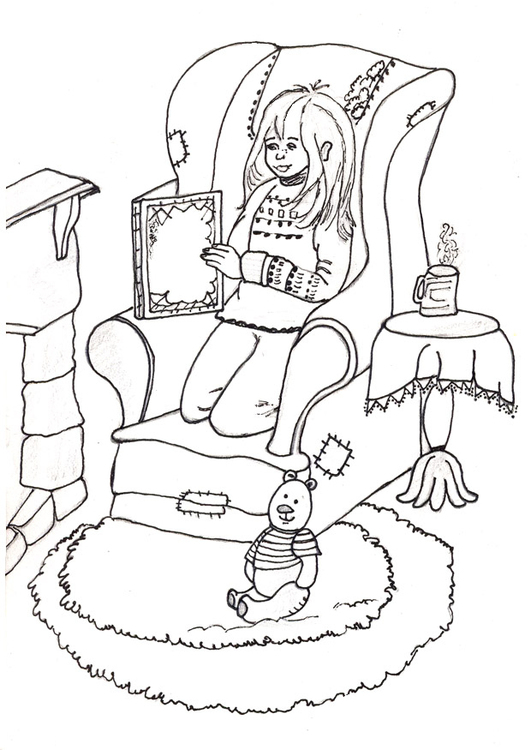 Coloring page to read