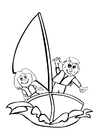 Coloring pages to sail
