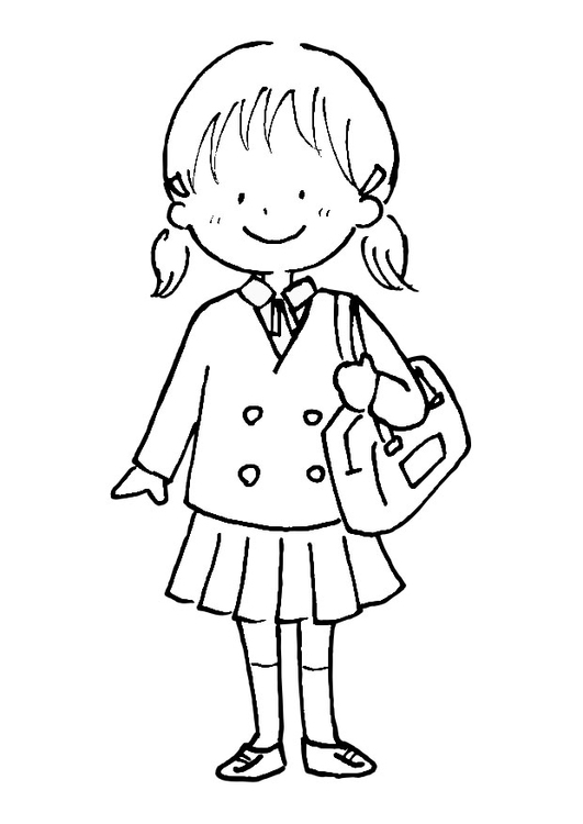 Coloring page to school