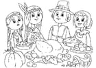 Coloring pages to share a meal