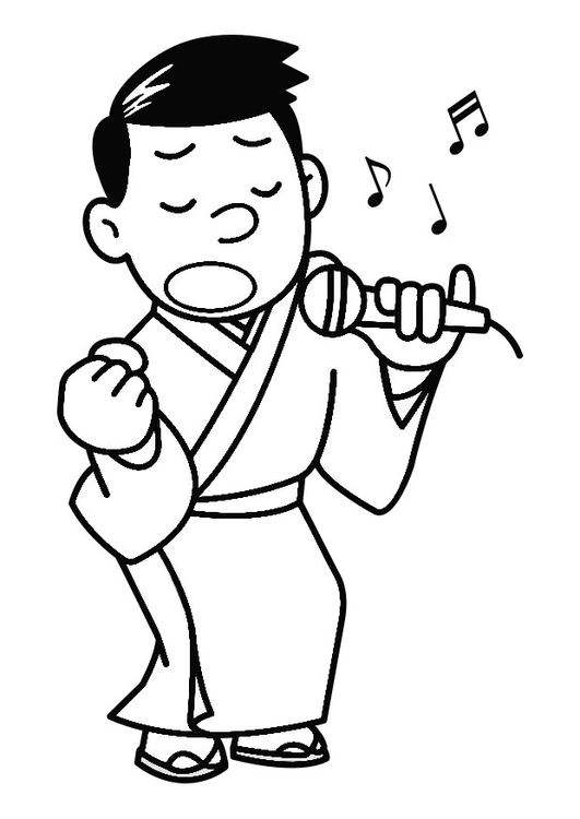 Coloring page to sing - karaoke