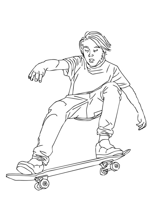 Coloring page to skate