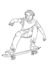 Coloring pages to skate