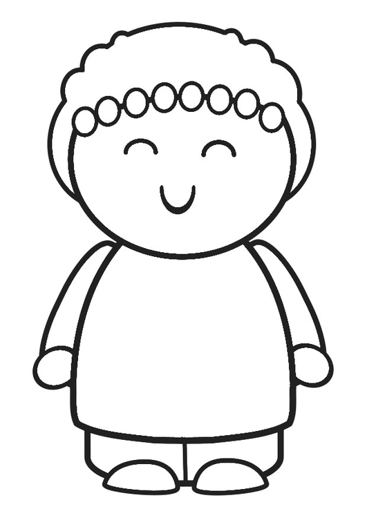 Coloring page to smile