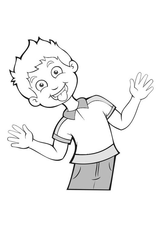 Coloring page to stick out one's tongue