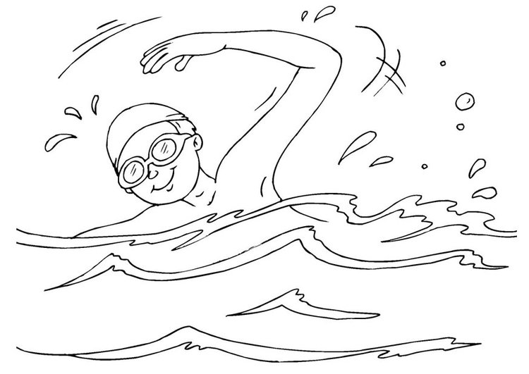 Coloring page to swim