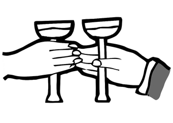 Coloring page to toast