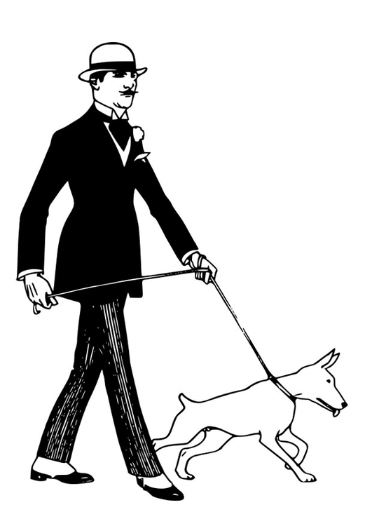 Coloring Page To Walk The Dog Free Printable Coloring Pages