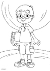 Coloring pages to wear glasses