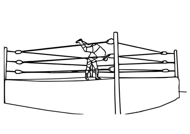 Coloring page to wrestle
