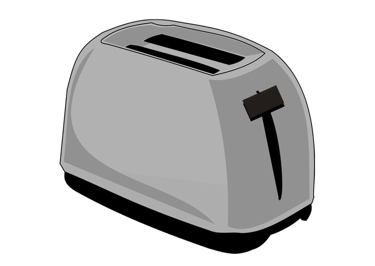 Coloring page toaster