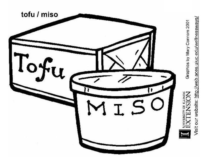 Coloring page tofu - miso