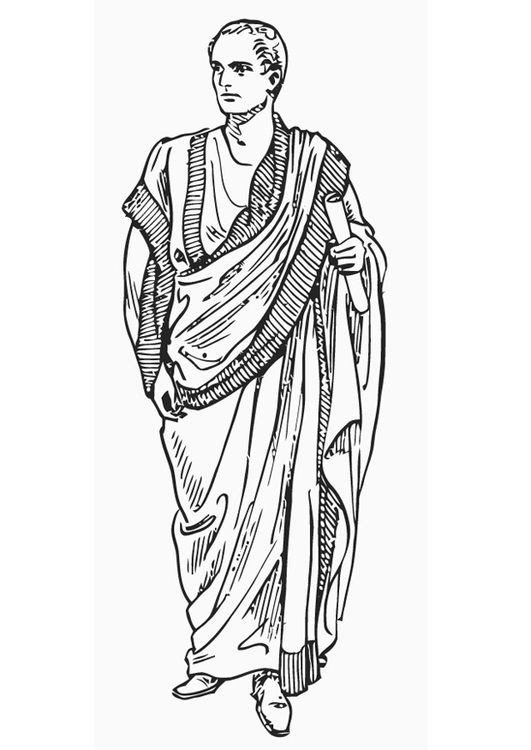 Coloring page toga