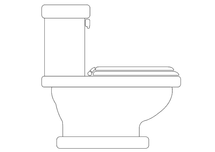 Coloring page toilet