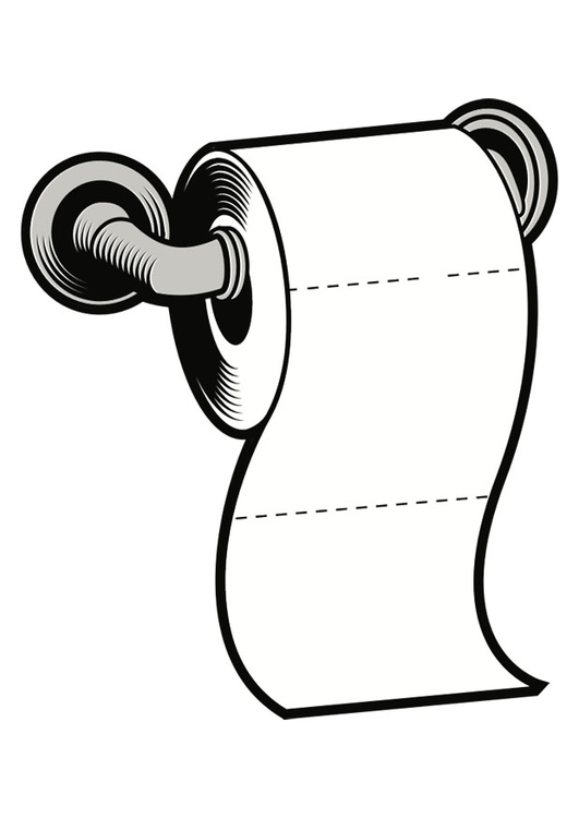 Coloring Page toilet paper - free printable coloring pages