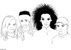 Coloring pages Tokio Hotel