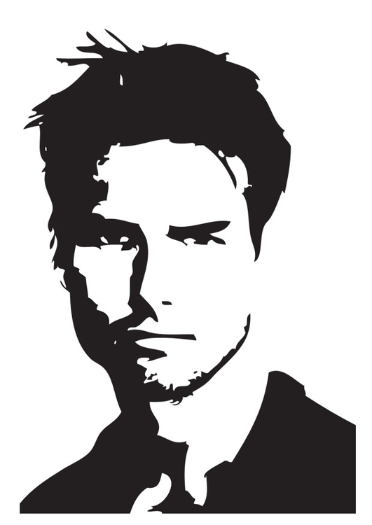Coloring page Tom Cruise