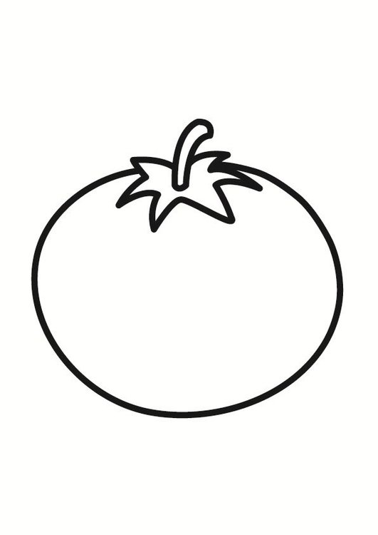 Coloring page tomato