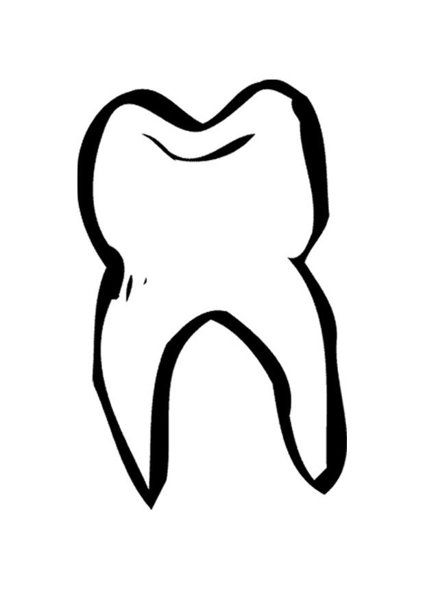 Coloring Page Tooth