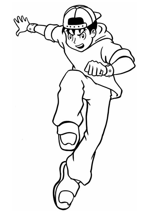 Coloring page tough guy