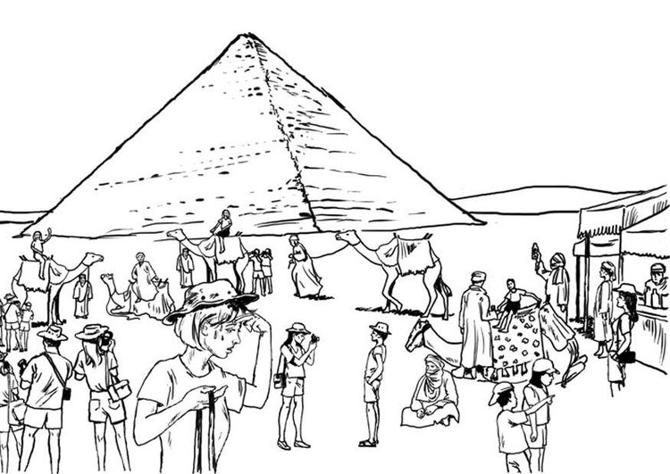 Coloring page Tourism, Egypte