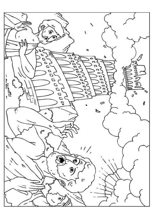 Coloring page tower of babel img 26005 for Tower of babel coloring pages for kids