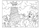 Coloring pages tower of Babel
