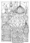 Coloring pages towers