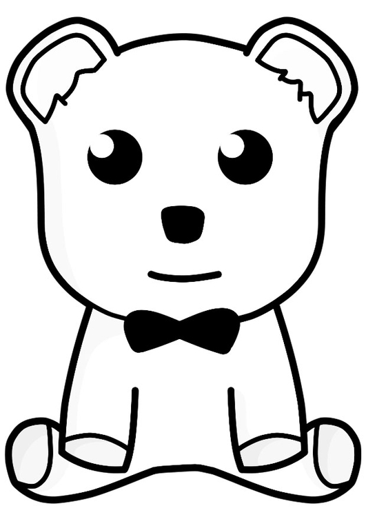 Coloring page toy bear