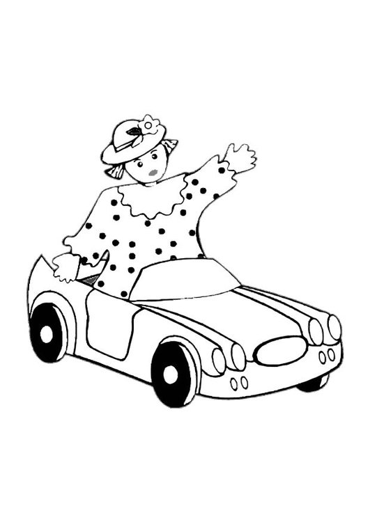 Coloring page toy car