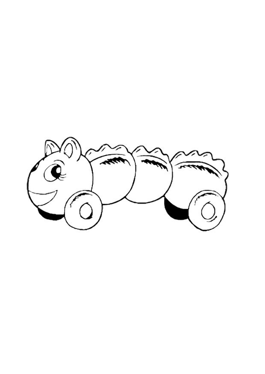 Coloring page toy caterpillar