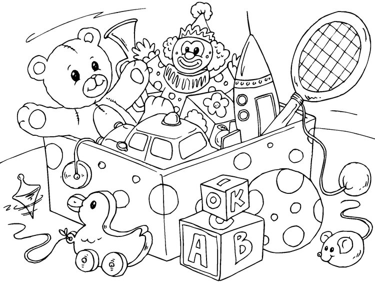 Coloring page toy