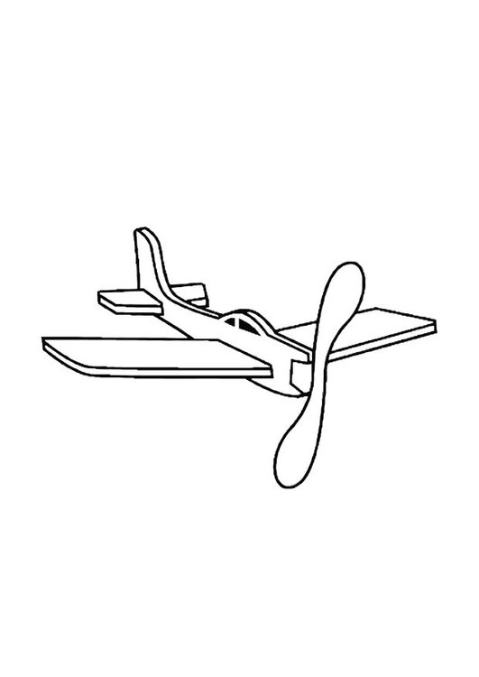 Coloring page toy plane