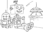 Coloring pages toy robot