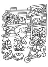 Coloring page toy store