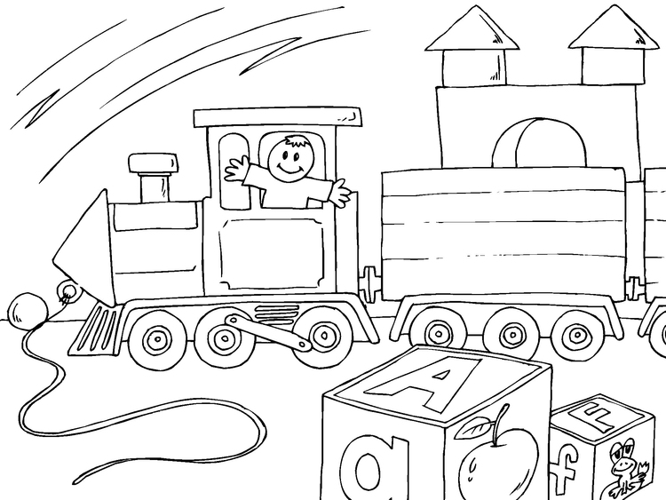 Coloring page toy train