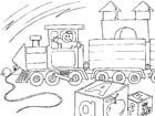 Coloring pages toy train