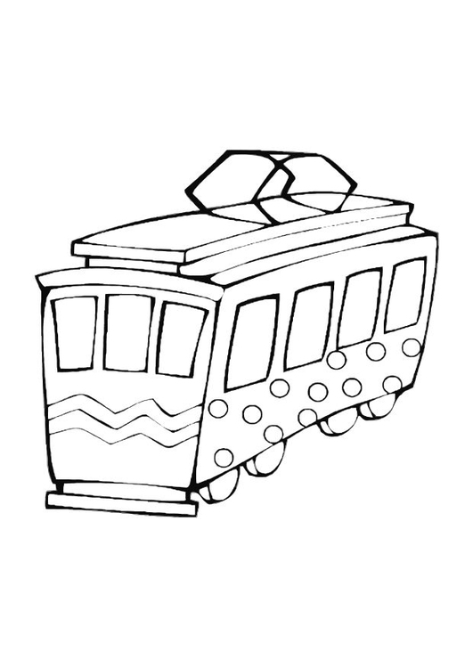 Coloring page toy trolley