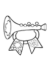Coloring pages toy trumpet