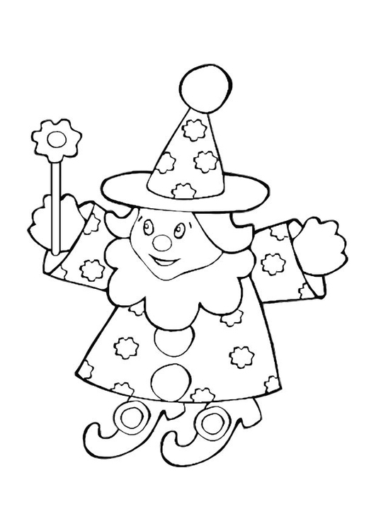 Coloring page toy wizard