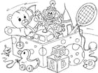 Coloring pages toys