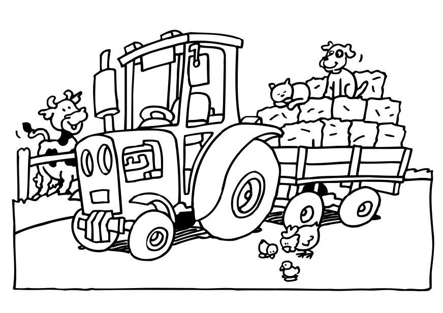 Free Farm Tractor Coloring Pages For Kids