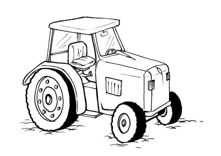 Coloring page tractor - img 8219.