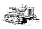 Coloring page tractor